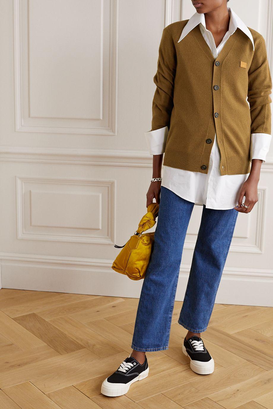 Acne Studios Appliquéd wool cardigan