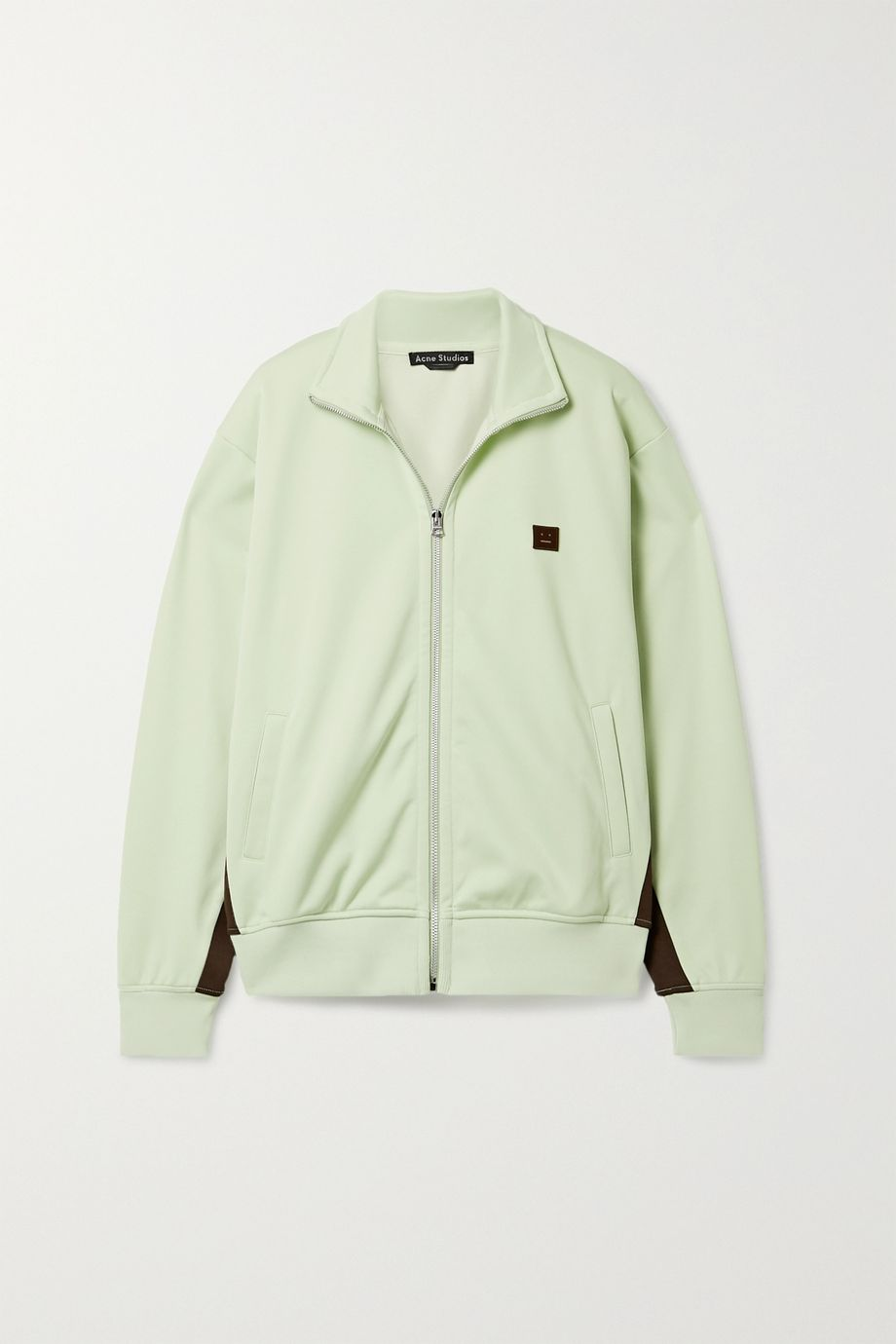 Acne Studios Appliquéd striped stretch-jersey track jacket