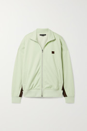 Frescot Face appliquéd striped stretch-jersey track jacket