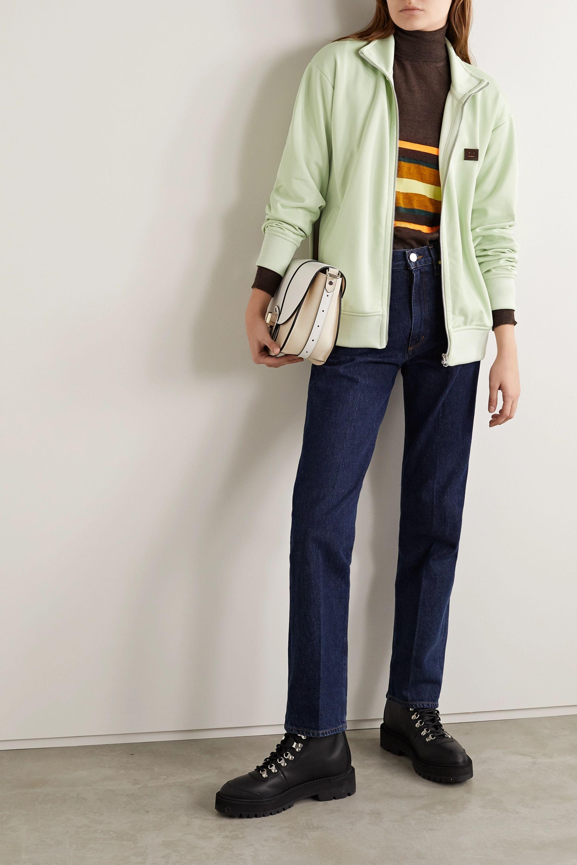 Acne Studios Appliquéd striped stretch-jersey track jacket