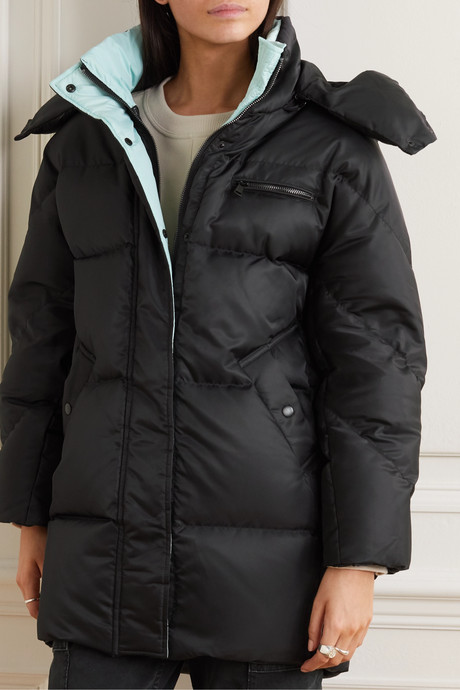 Anthem hooded quilted shell down parka