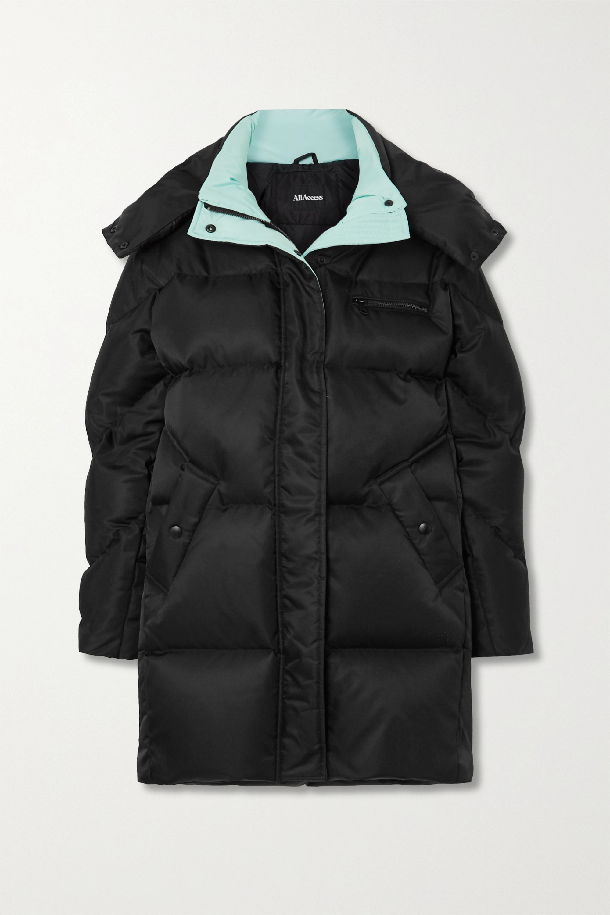 All Access Anthem hooded quilted shell down parka