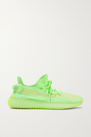 Yeezy Boost 350 V2 glow-in-the-dark Primeknit and mesh sneakers