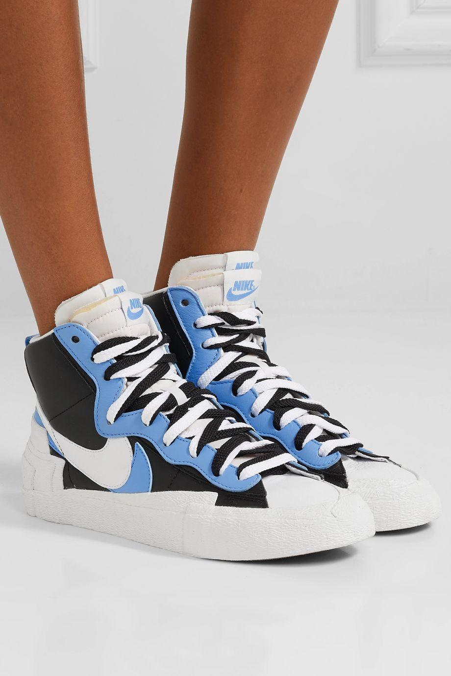 Nike + Sacai Blazer Mid leather high-top sneakers