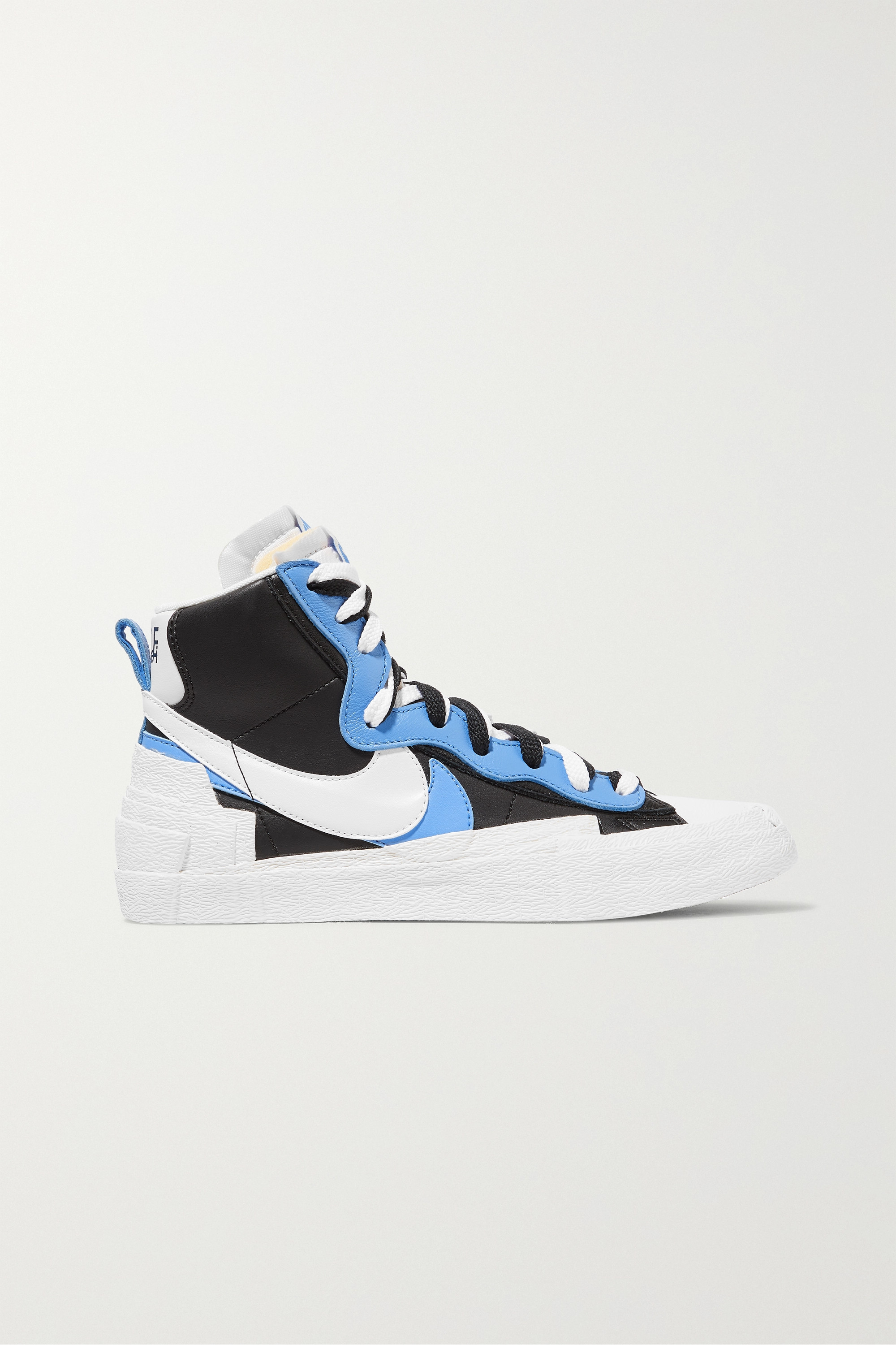 Nike + Sacai Blazer Mid leather high-top sneakers