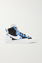 + Sacai Blazer Mid leather high-top sneakers