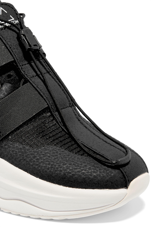 "Brandblack x Pushbutton ""Specter"" 格子布氯丁橡胶运动鞋"