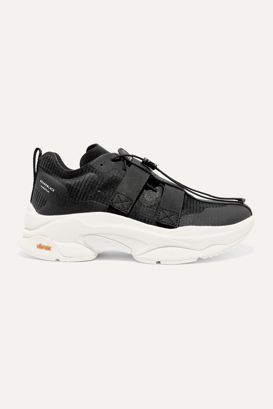Brandblack + Pushbutton Specter ripstop and neoprene sneakers