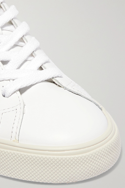 Veja + NET SUSTAIN Esplar suede-trimmed leather sneakers