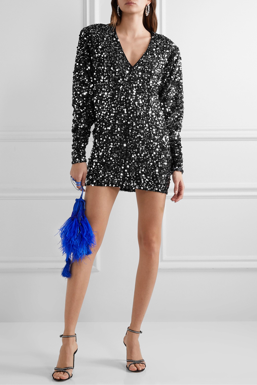 Masha embellished stretch-jersey mini dress