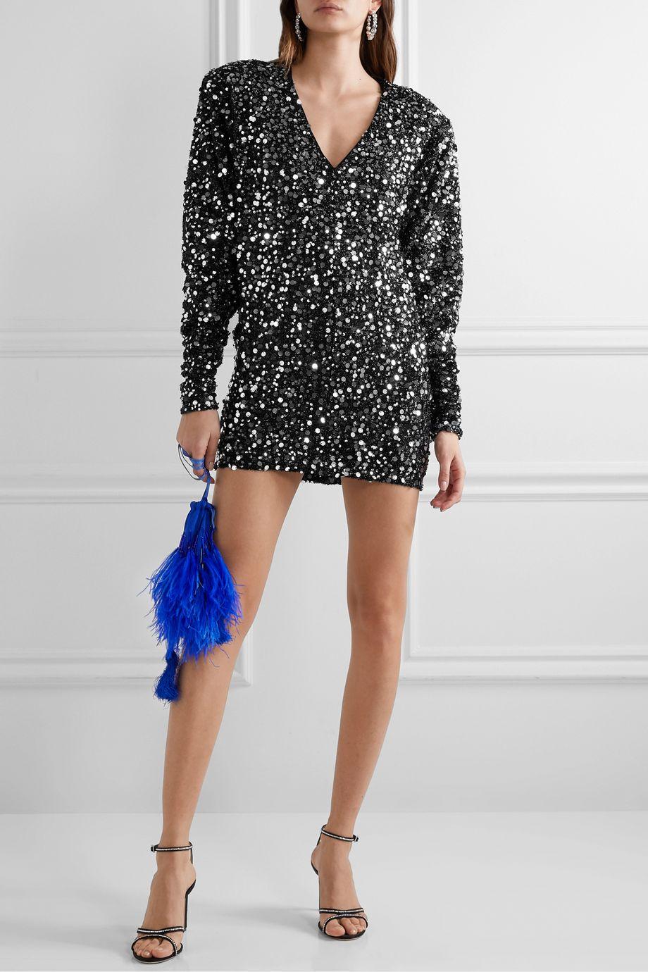 ROTATE Birger Christensen Masha embellished stretch-jersey mini dress