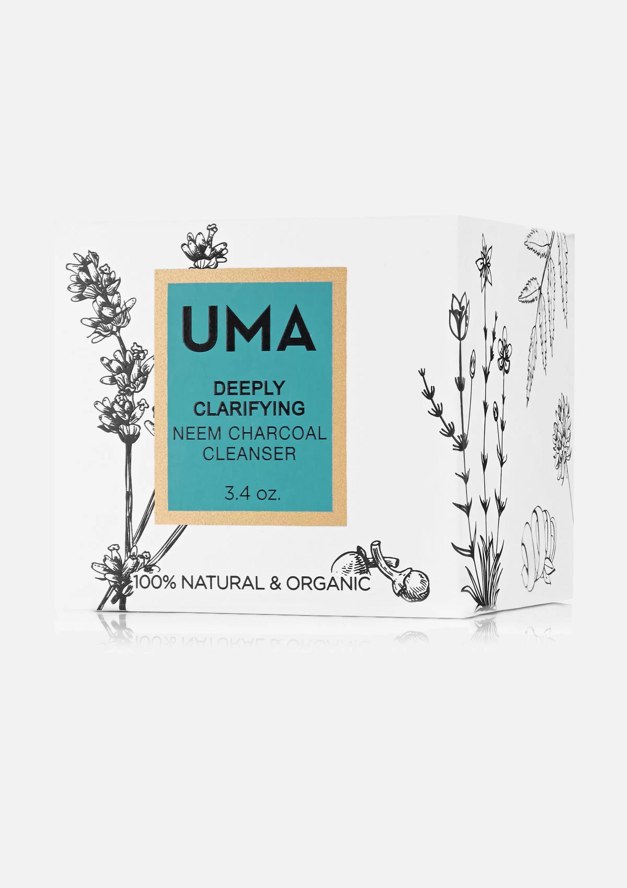 UMA Oils + NET SUSTAIN Deeply Clarifying Neem Charcoal Cleanser, 100ml