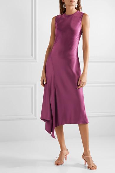 Vanessa Paneled Textured Satin Midi Dress by Sies Marjan
