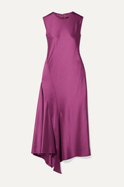 Sies Marjan Vanessa paneled textured-satin midi dress