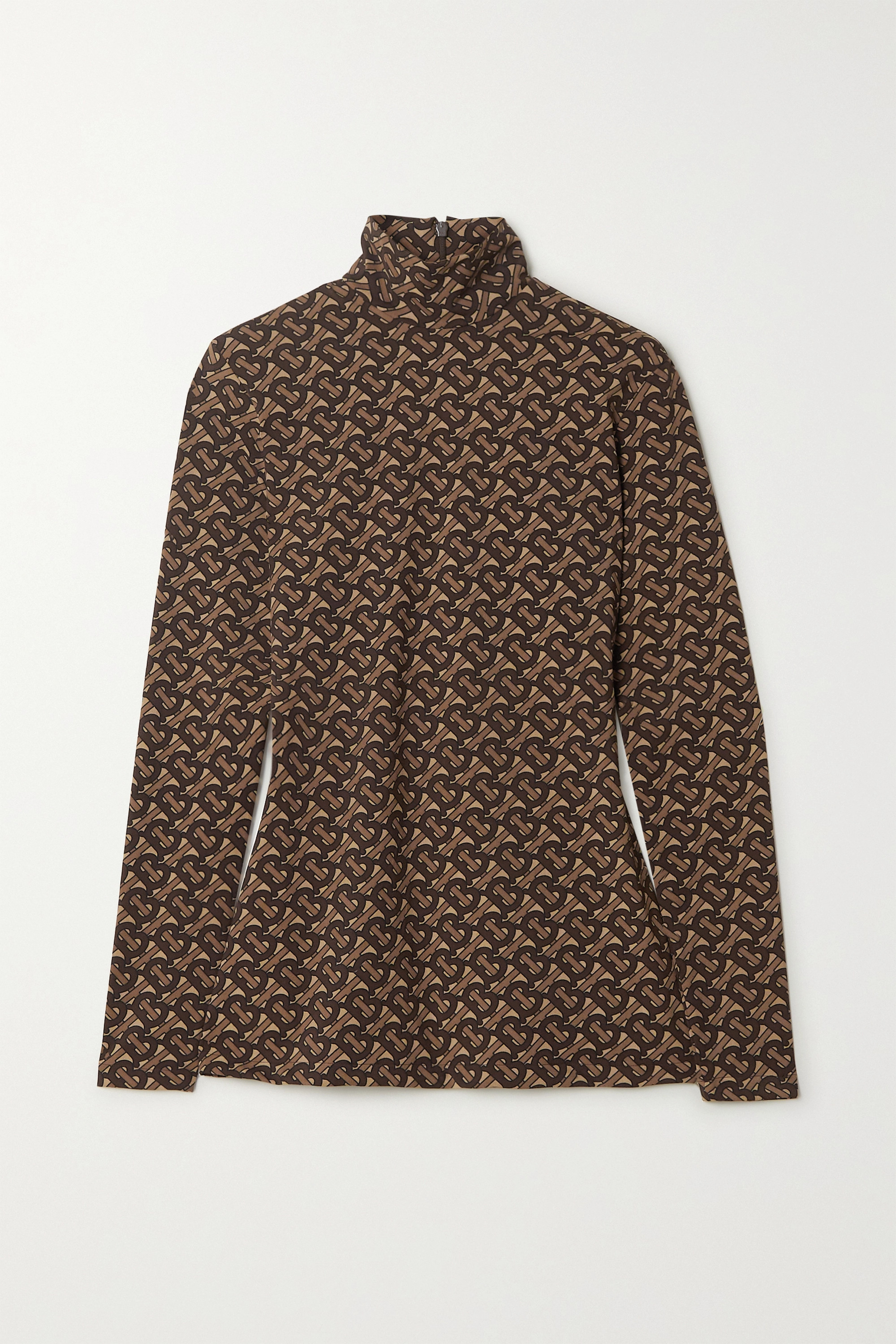 Burberry Printed stretch-jersey turtleneck top