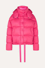 Moncler Hooded quilted cotton down jacket