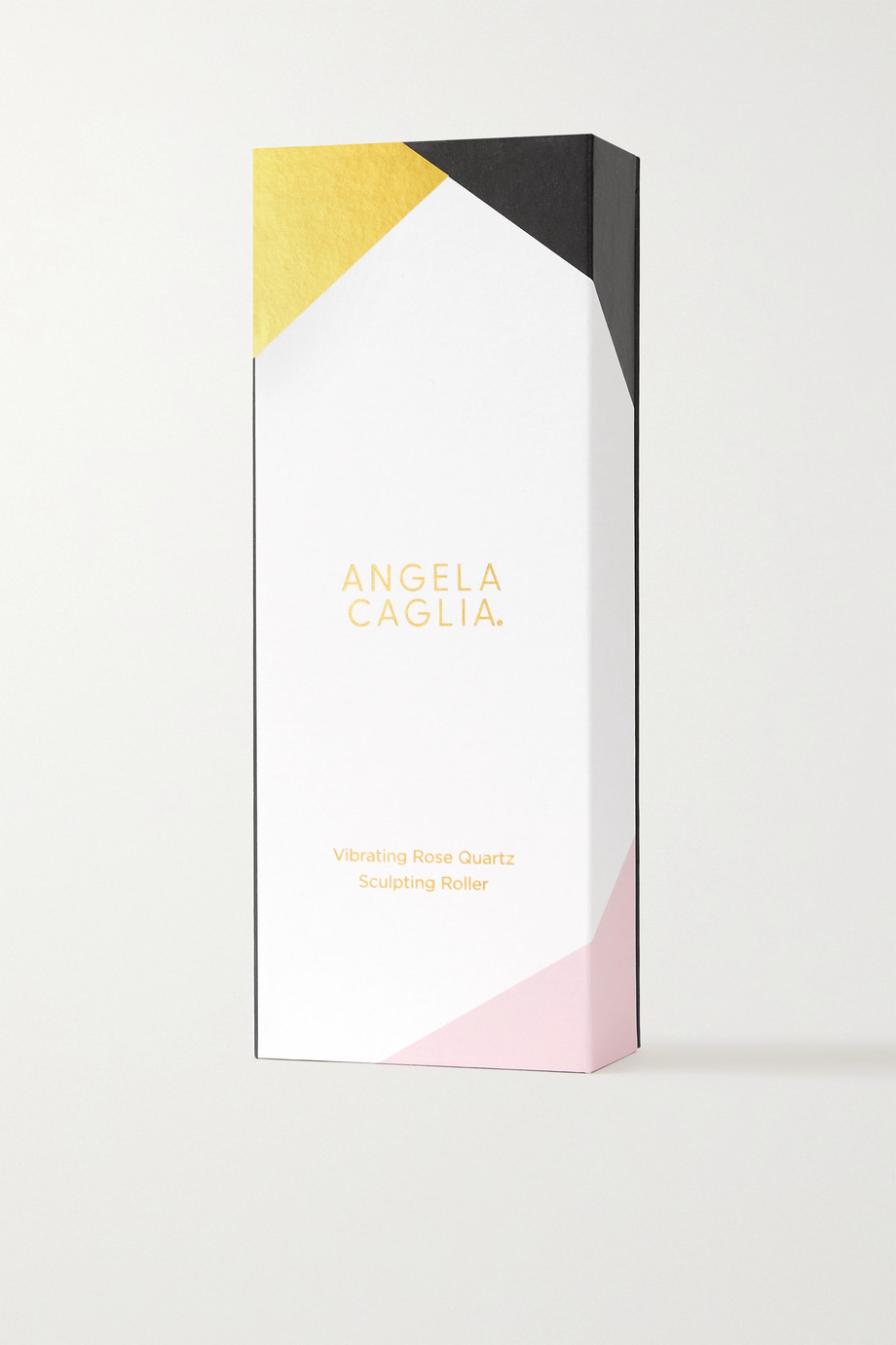 Angela Caglia Vibrating Rose Quartz Face Sculpting Roller – Gesichtsmassagegerät