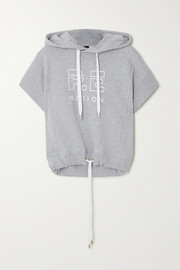 P.E NATION Free Formation oversized printed cotton-terry hoodie