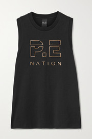 P.E NATION Navigate printed cotton-jersey tank