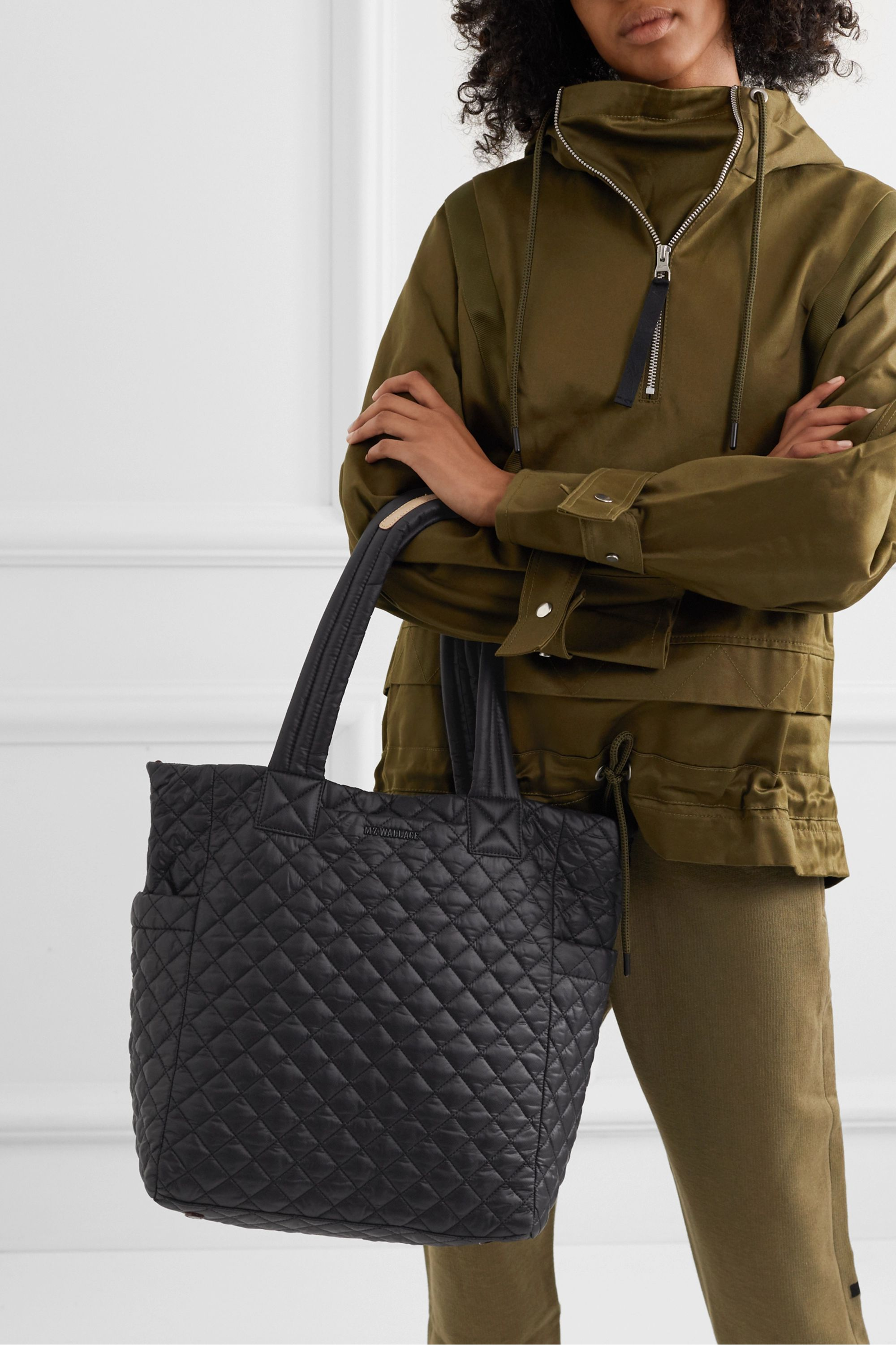 MZ Wallace Max quilted shell tote