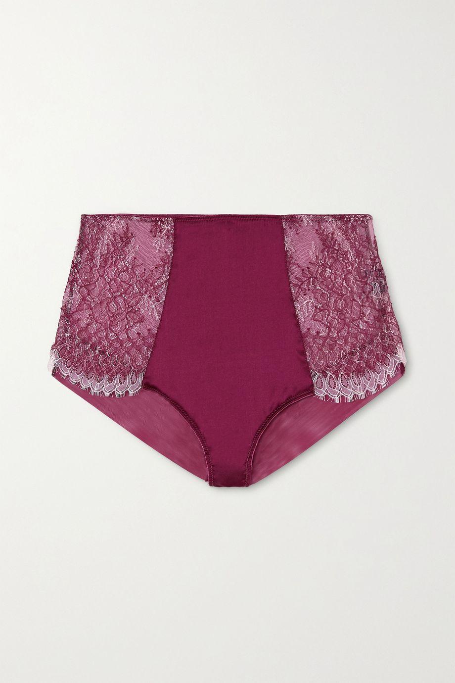 Katherine Hamilton Mariella 蕾丝、弹力绢网、缎布三角裤