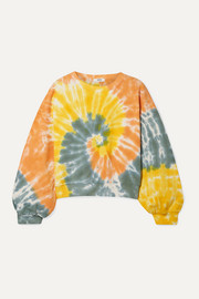 AGOLDE Tie-dyed cropped cotton-jersey sweatshirt