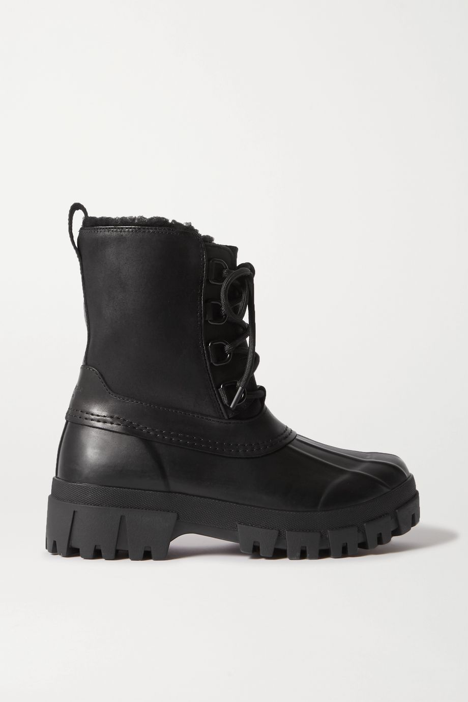 rag & bone Rb Winter shearling-lined leather and rubber ankle boots