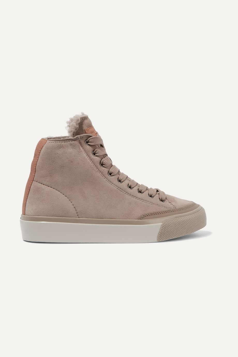 rag & bone RB shearling-lined suede sneakers
