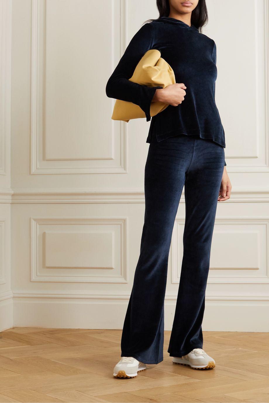 calé Angelique stretch-velour hoodie