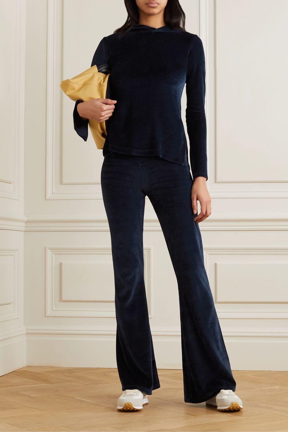 calé Angelique stretch-velour flared pants