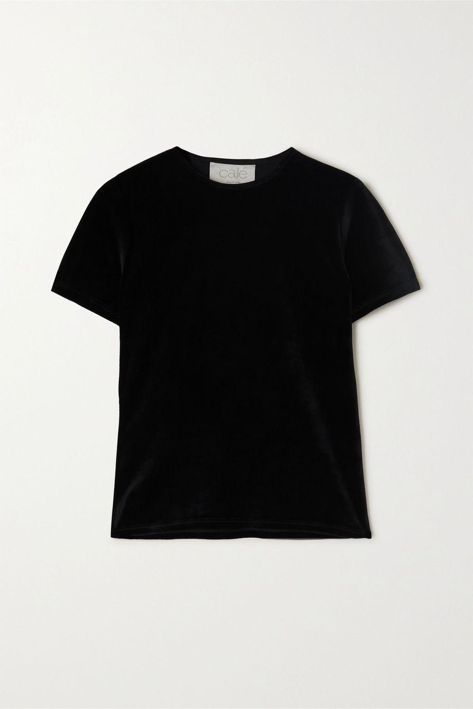calé Nina stretch-velour T-shirt