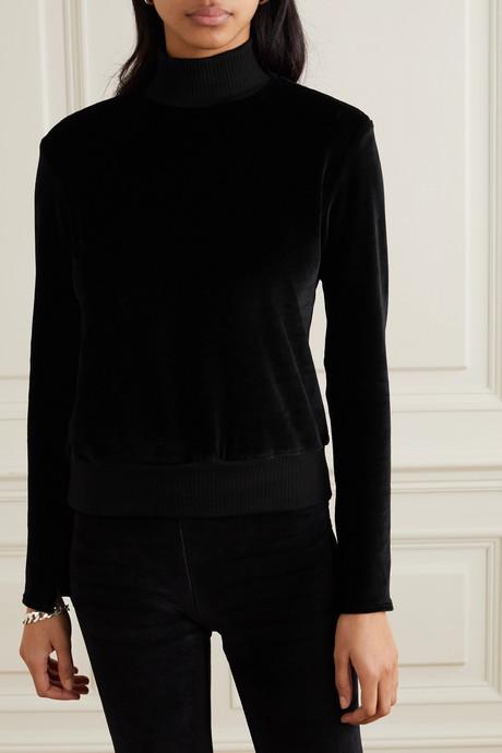 Gabrielle stretch-velour sweatshirt