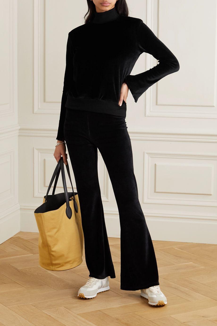 calé Gabrielle Sweatshirt aus Stretch-Velours