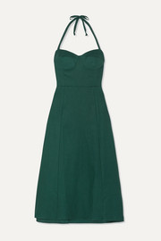 Jana linen halterneck midi dress