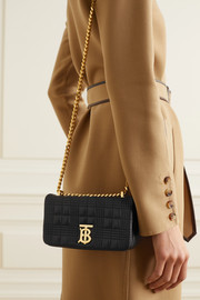 Burberry Mini quilted leather shoulder bag
