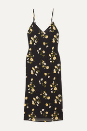 Reformation Dietrich floral-print georgette midi dress