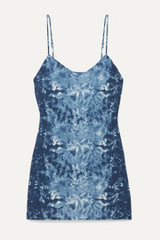 Seville tie-dyed georgette mini dress