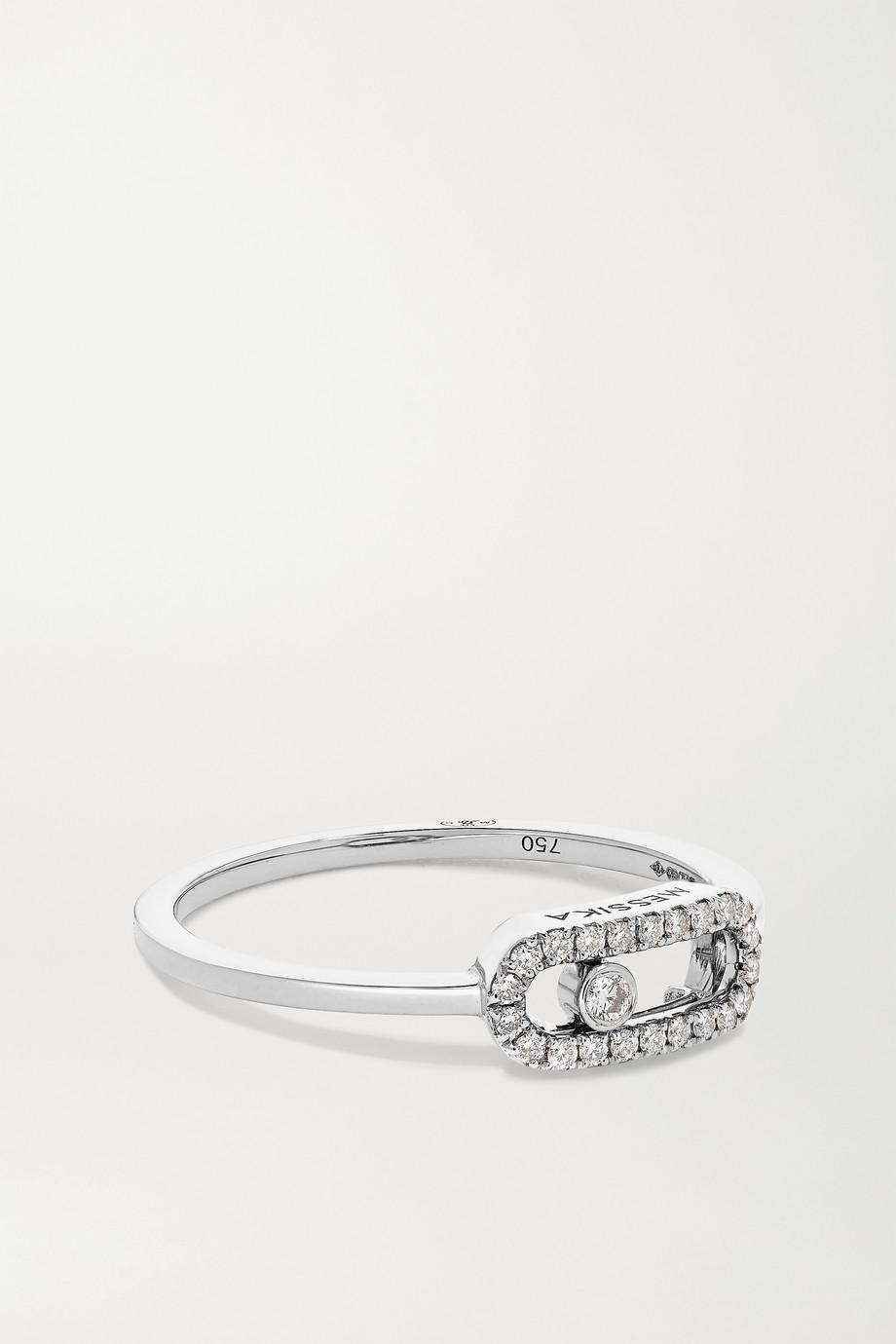 Messika Move Uno 18-karat white gold diamond ring