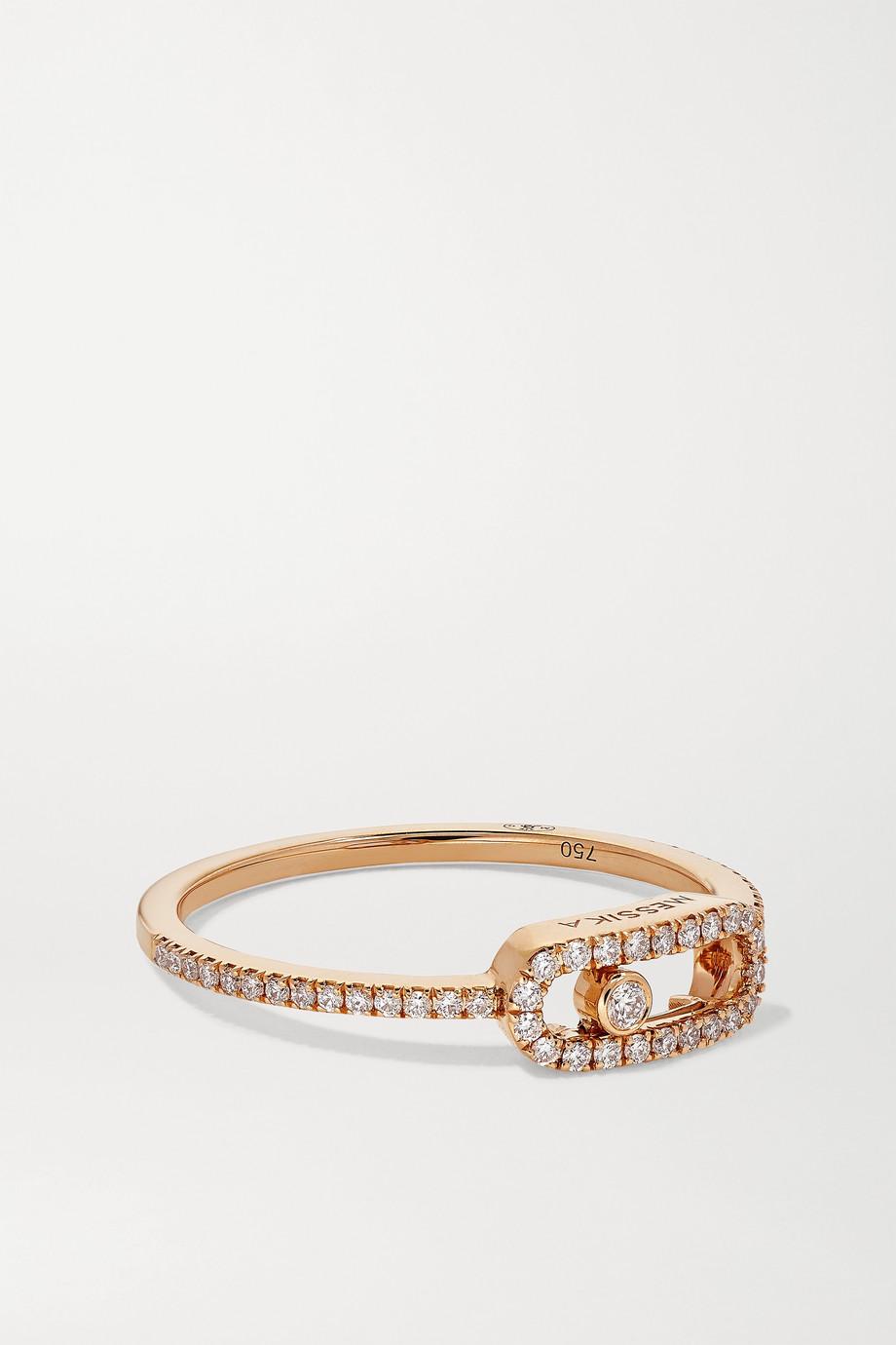 Messika Bague en or rose 18 carats (750/1000) et diamants Move Uno