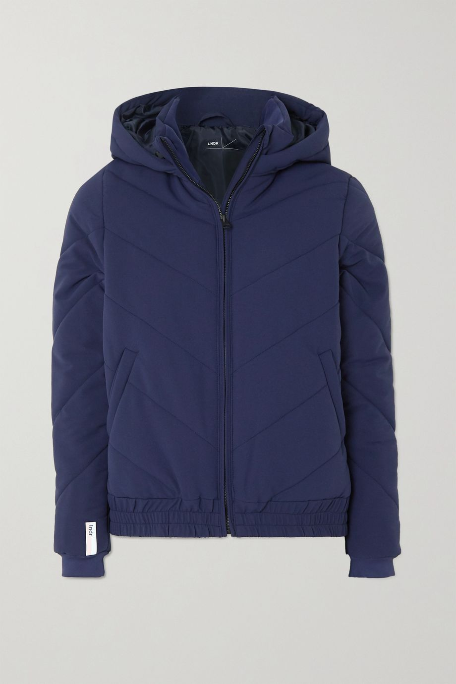 LNDR Hooded quilted padded shell jacket