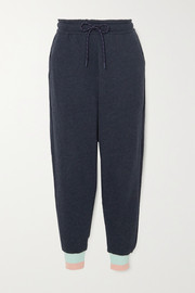 LNDR Trouble cropped cotton-jersey track pants