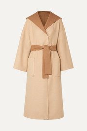 Brunello Cucinelli Reversible belted camel hair-blend coat