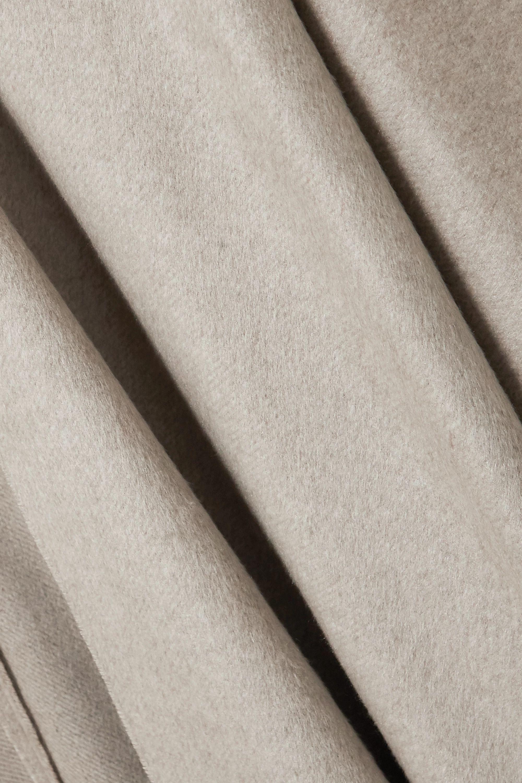 Brunello Cucinelli Fringed silk poncho
