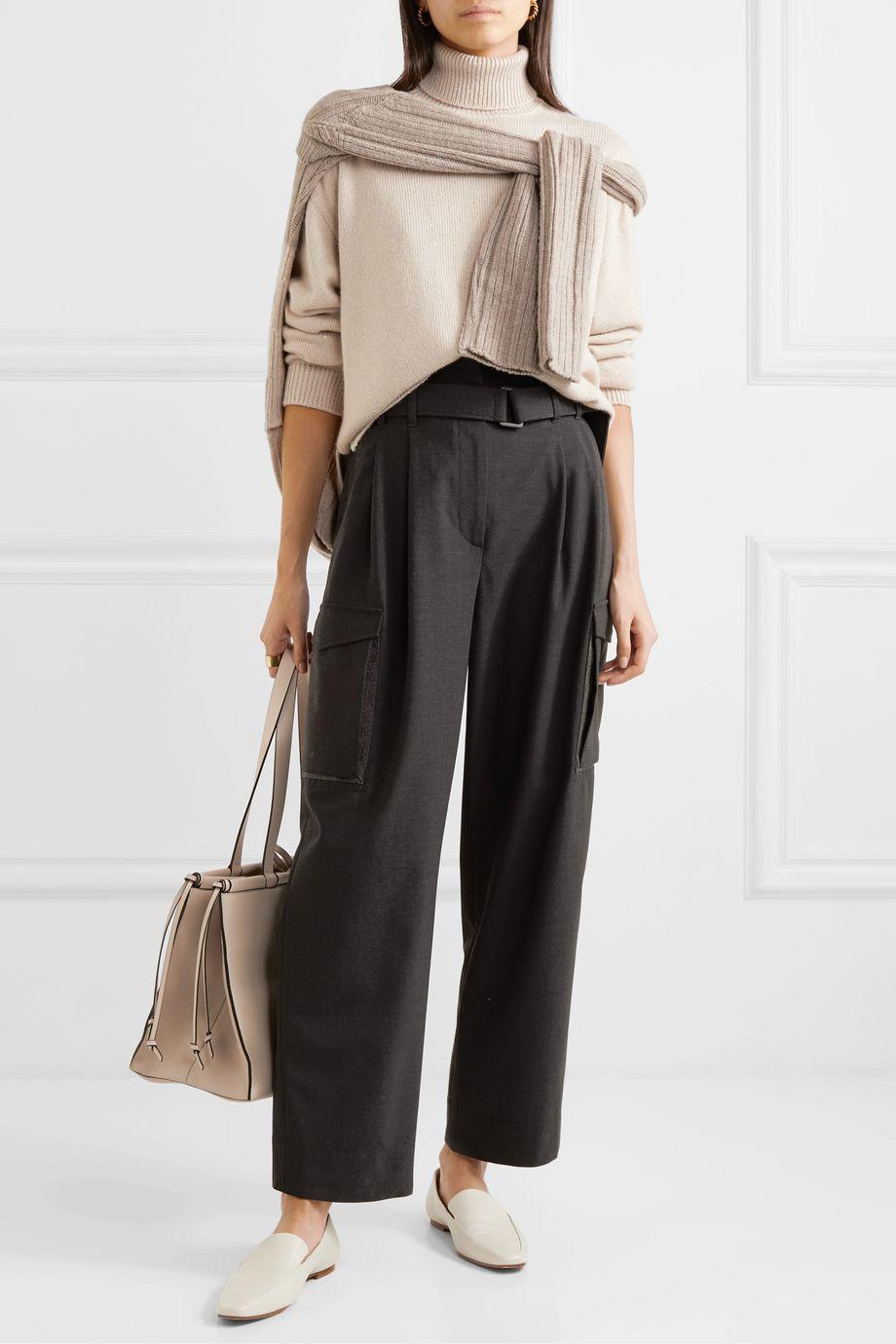 Brunello Cucinelli Sequin-embellished cashmere and silk-blend turtleneck sweater