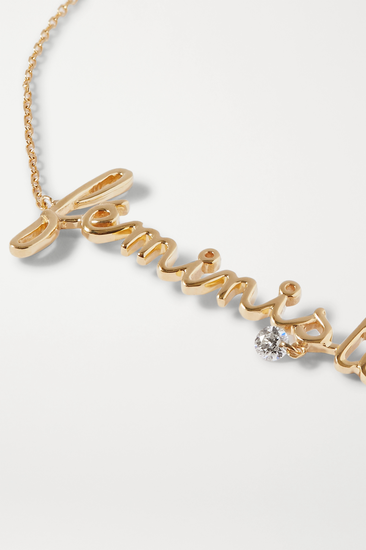 Persée Feministe 18-karat gold diamond bracelet