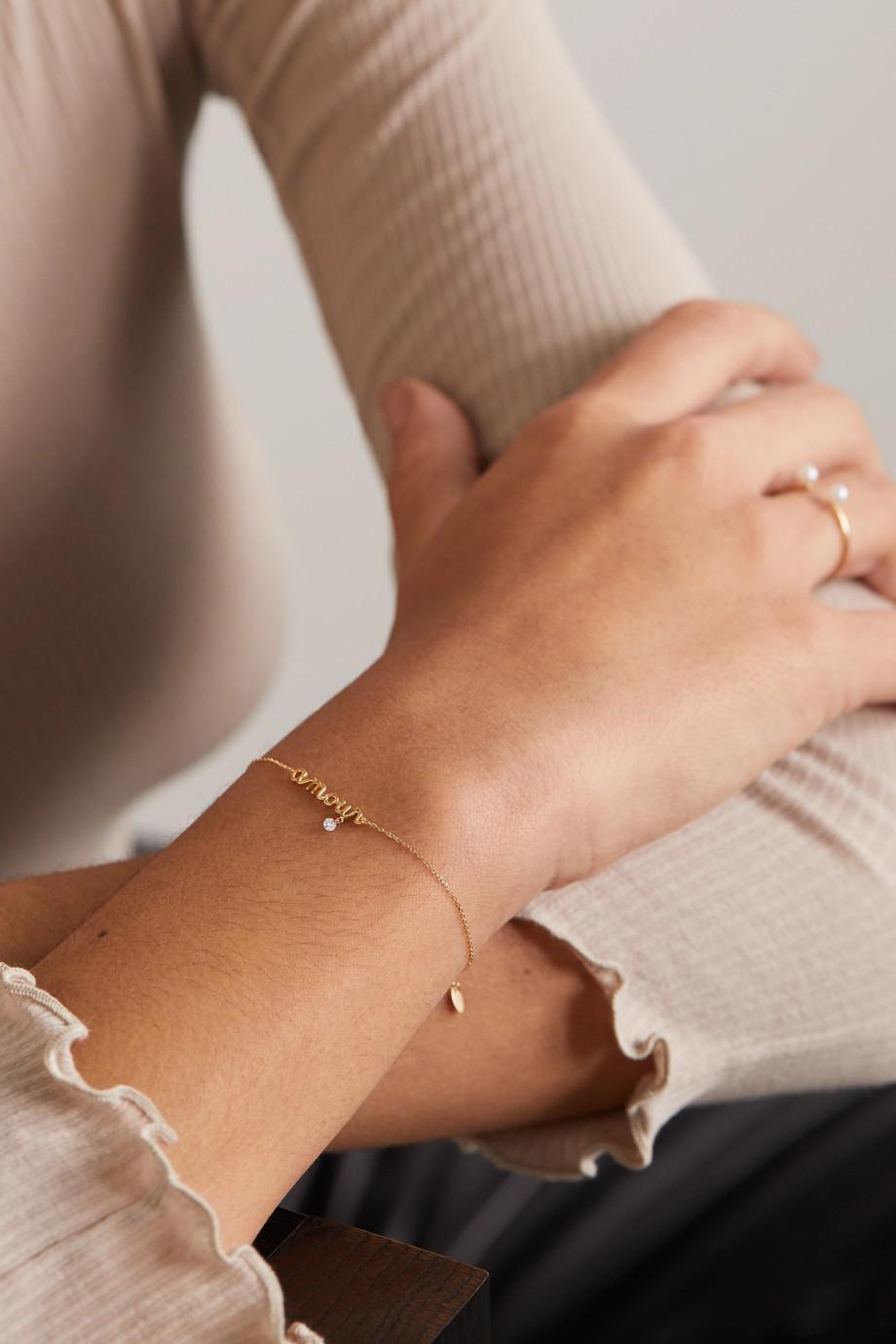 Persée Amour 18-karat gold diamond bracelet