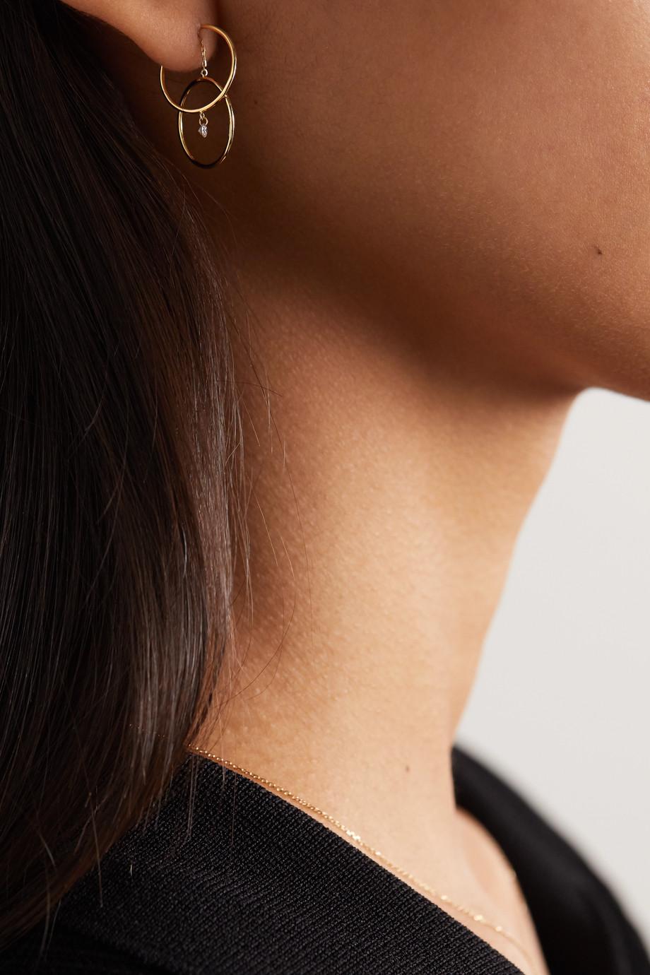 Persée Turn Around 18-karat gold diamond earring