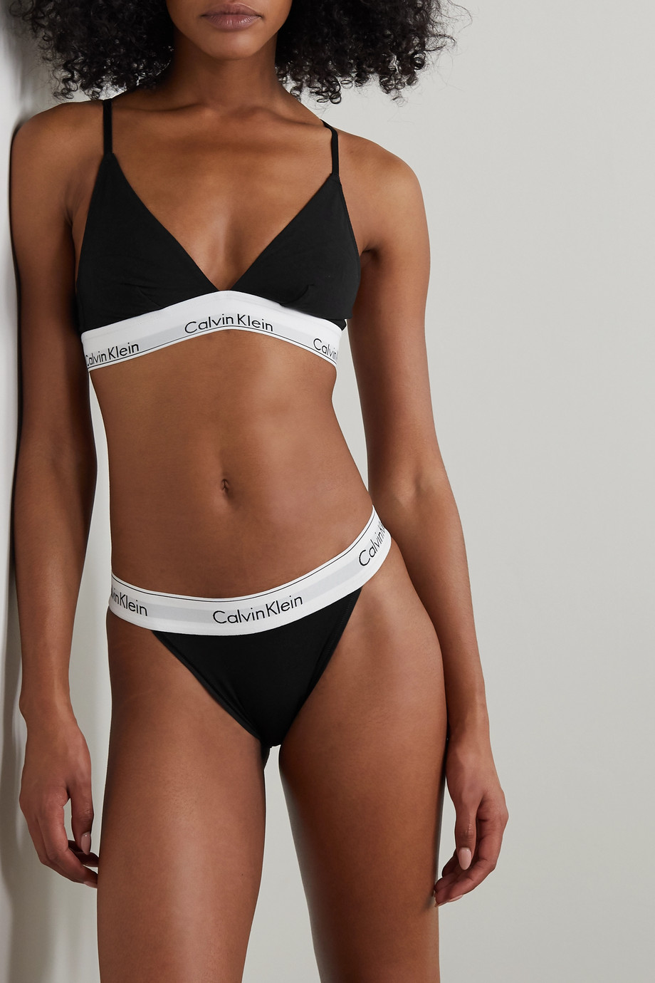Calvin Klein Underwear Cotton-blend jersey briefs