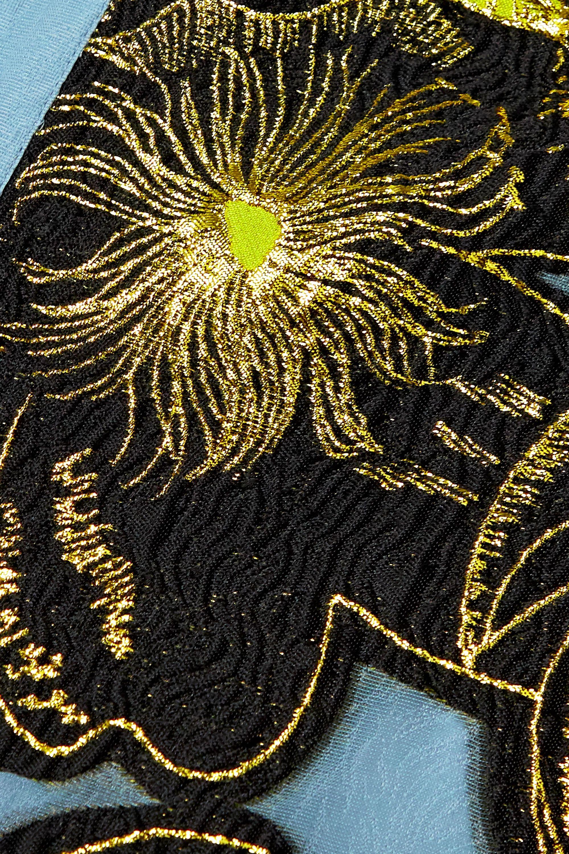 Stine Goya Ivana tiered metallic floral-jacquard mini dress