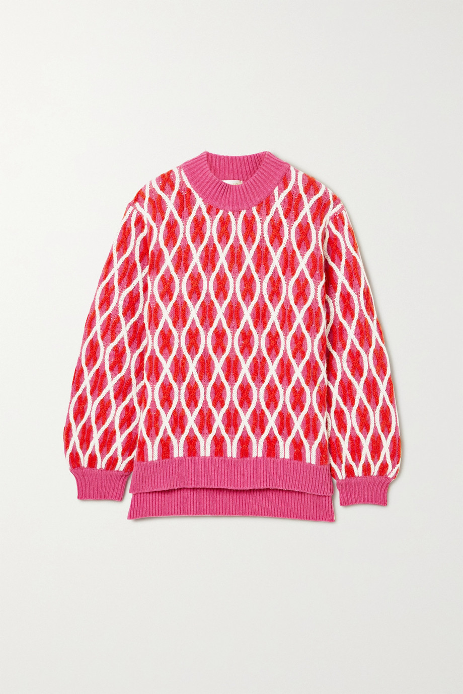 Stine Goya Anders cable-knit wool-blend sweater